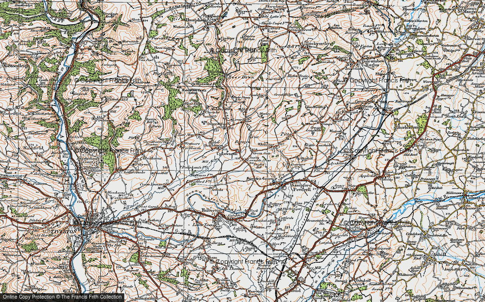 Old Map of Uplowman, 1919 in 1919