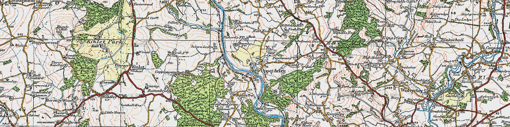 Old map of Upper Arley in 1921