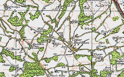 Old map of Upper Basildon in 1919