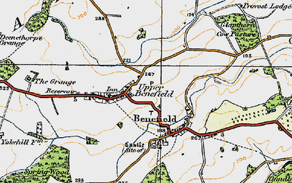 Old map of Westwood Lo in 1920