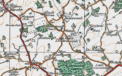 Old map of Wetton in 1920