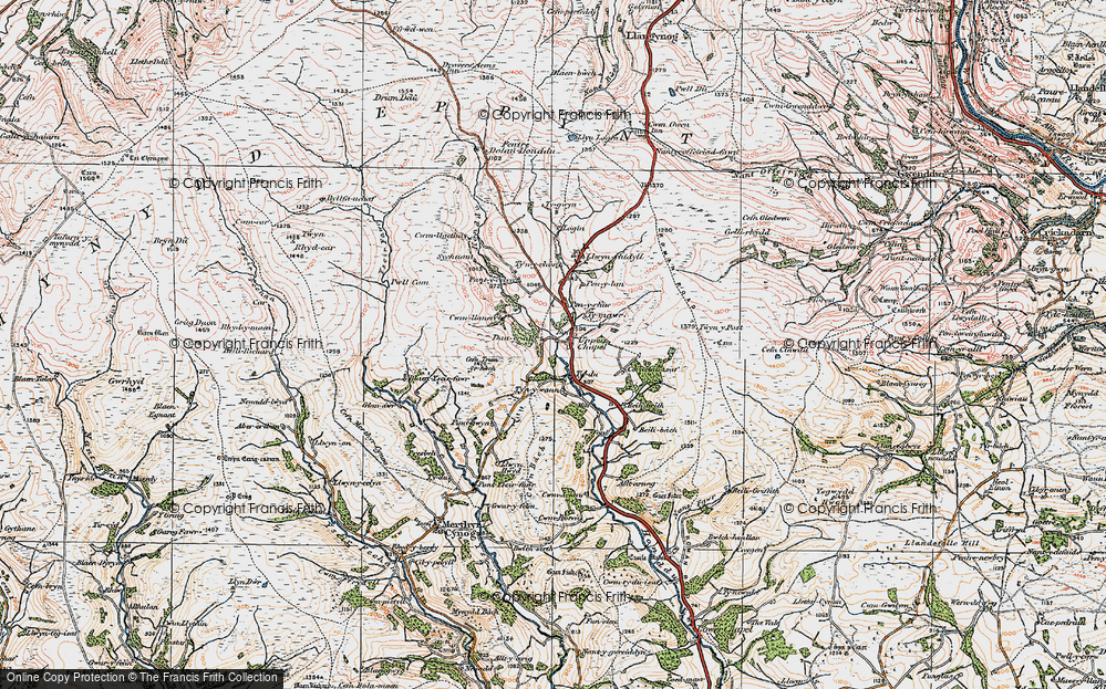 Old Map of Historic Map covering Alltarnog in 1923