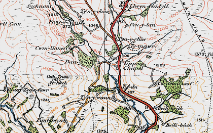 Old map of Baily Brith in 1923