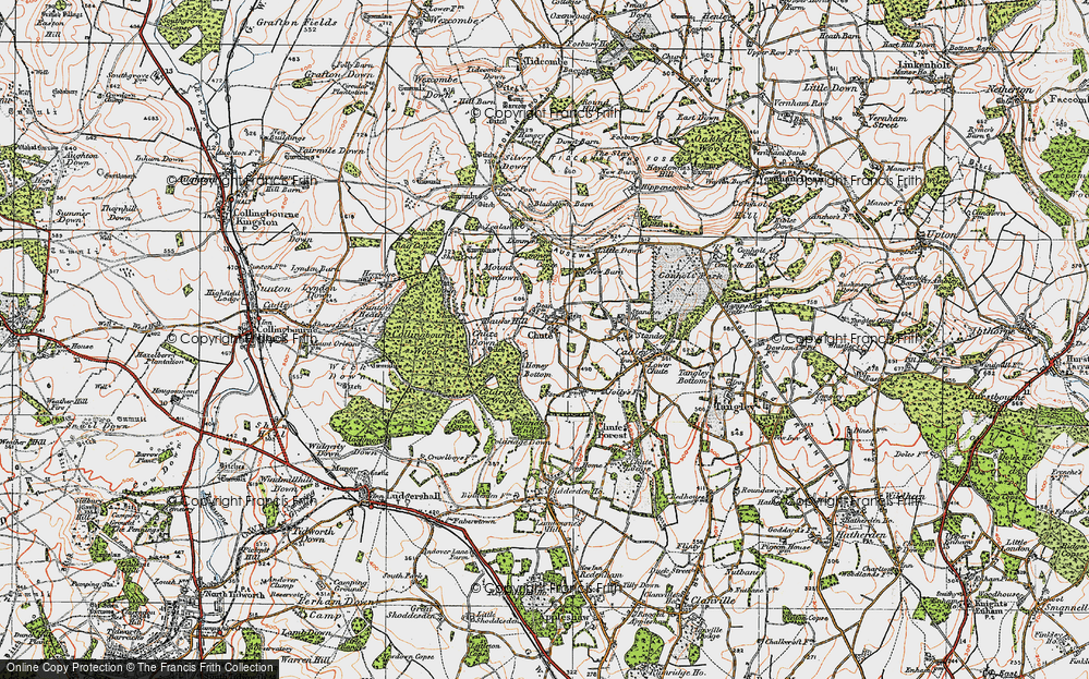 Old Map of Historic Map covering Limmer Copse in 1919