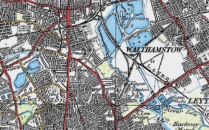 Old map of Upper Clapton in 1920