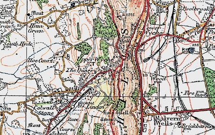 Old map of Linden in 1920