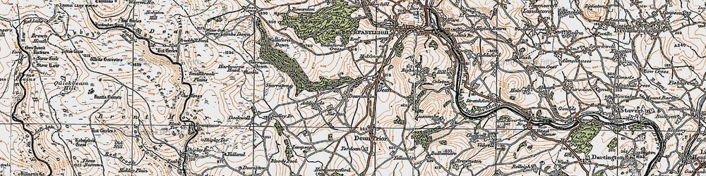 Old map of Addislade in 1919