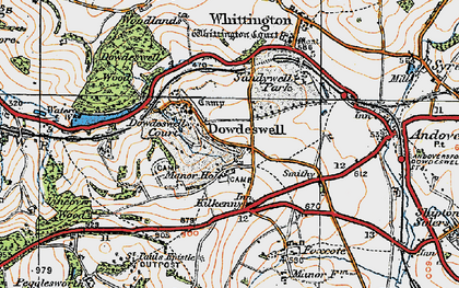 Old map of Upper Dowdeswell in 1919