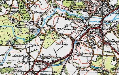 Old map of Upper Eashing in 1920