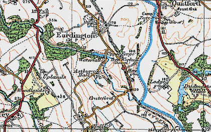 Old map of Astbury Hall in 1921