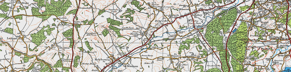 Old map of Yarnhams in 1919