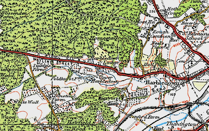 Old map of Tonford Manor in 1920