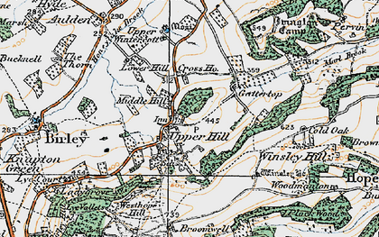 Old map of Winsley Ho in 1920