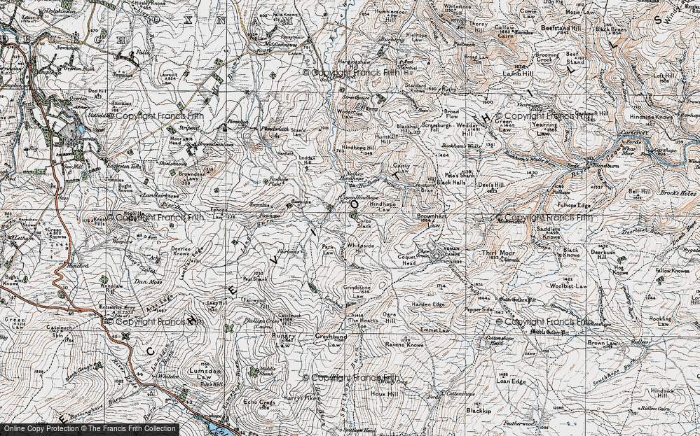 Old Map of Historic Map covering Leithope Forest in 1926