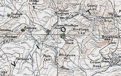 Old map of Leithope Forest in 1926