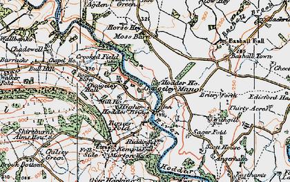 Old map of Upper Hodder in 1924