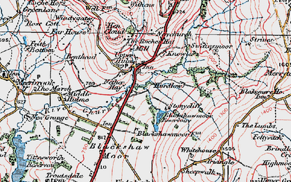 Old map of Windygates in 1923