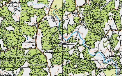 Old map of Upper Ifold in 1920