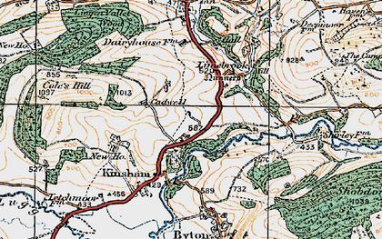 Old map of Lingen Vallet Wood in 1920