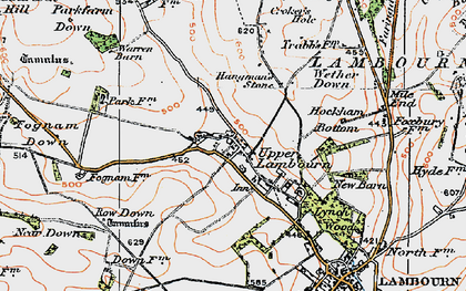 Old map of Whit Coombe in 1919