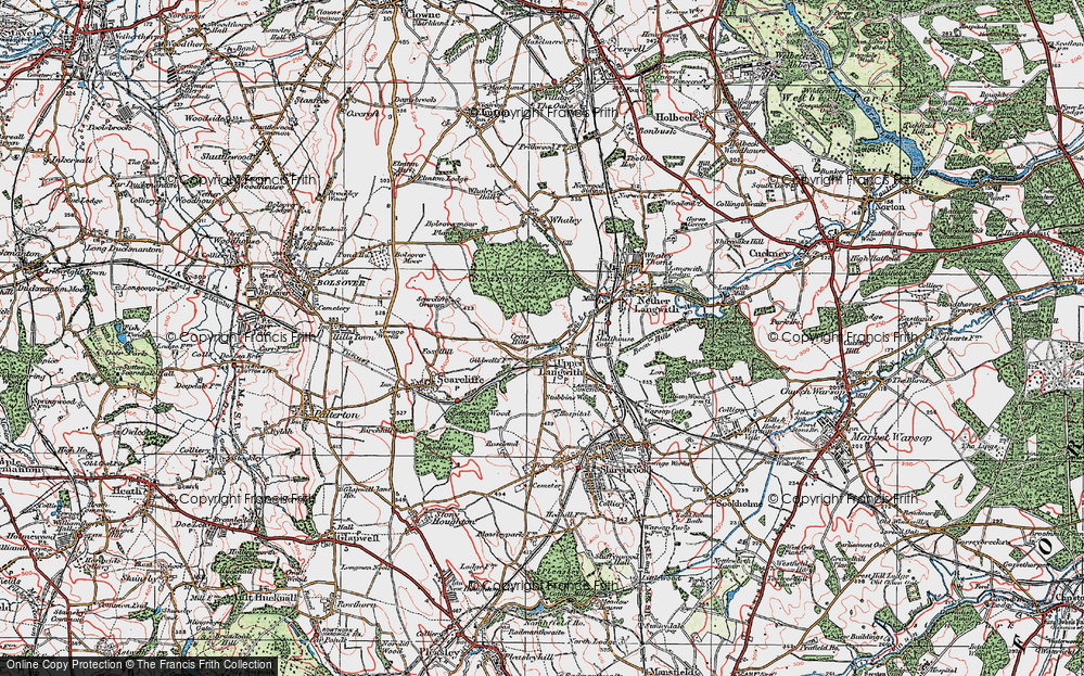 Old Map of Upper Langwith, 1923 in 1923
