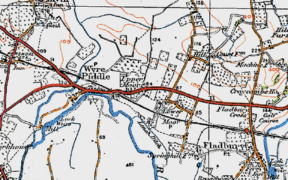 Old map of Lench Ditch in 1919