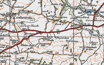Old map of Winter Hall in 1922