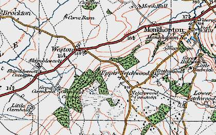 Old map of Woolshope in 1921
