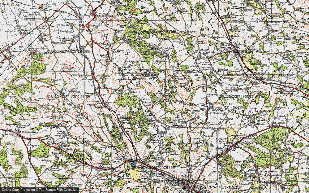 Old Map of Upper North Dean, 1919 in 1919