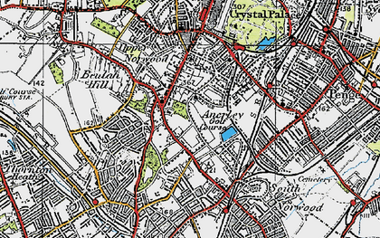 Old map of Upper Norwood in 1920