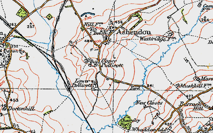 Old map of Upper Pollicott in 1919