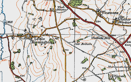 Old map of Westcote Hill in 1919