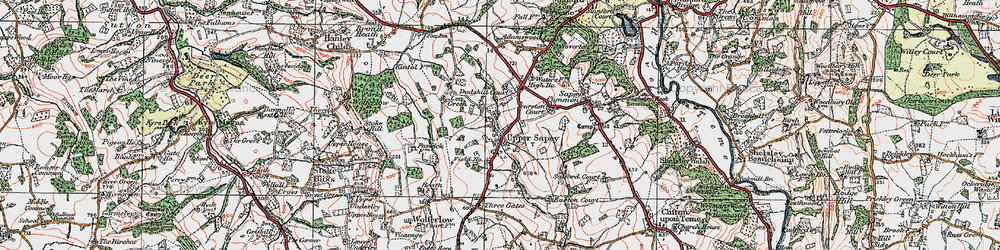 Old map of Yearston Court in 1920