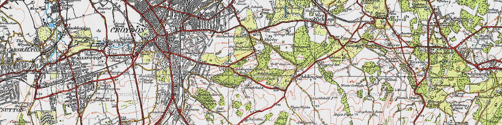 Old map of Addington Hills in 1920