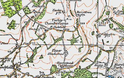 Old map of Bailey's Down in 1919