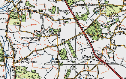 Old map of Whiteford Hall in 1922