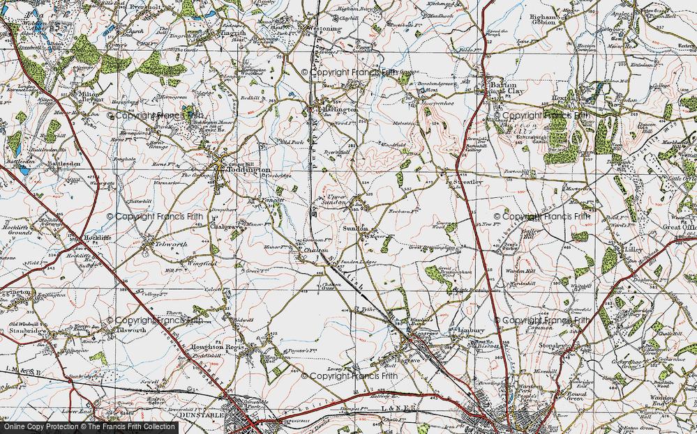 Old Map of Upper Sundon, 1919 in 1919