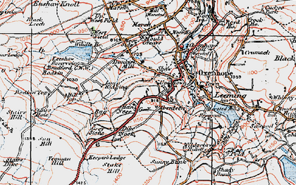 Old map of Yeoman Hill in 1925