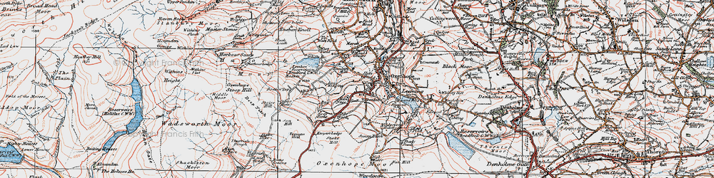 Old map of Thurrish Rough in 1925
