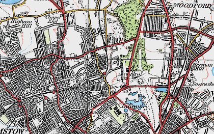 Old map of Upper Walthamstow in 1920