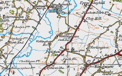 Old map of Barcombe Ho in 1920