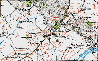 Old map of Upper Winchendon in 1919