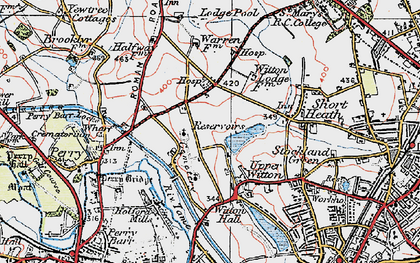 Old map of Witton Lakes in 1921