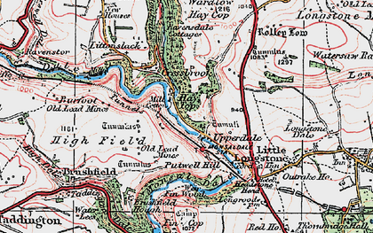 Old map of Monsal Dale in 1923
