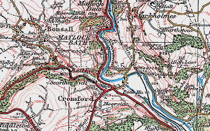 Old map of Wood End in 1923