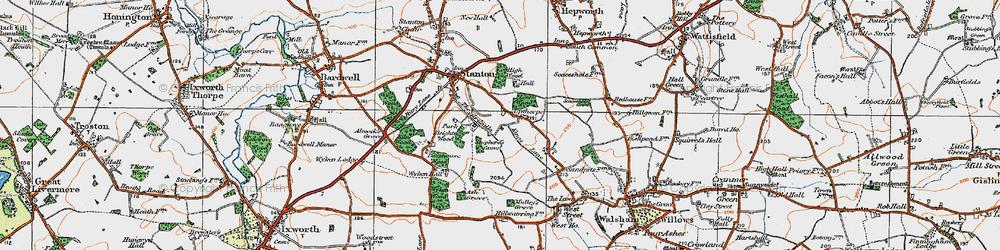 Old map of Wyken Wood in 1920
