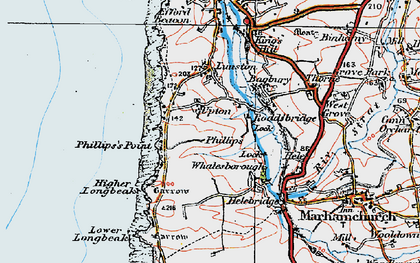 Old map of Upton in 1919