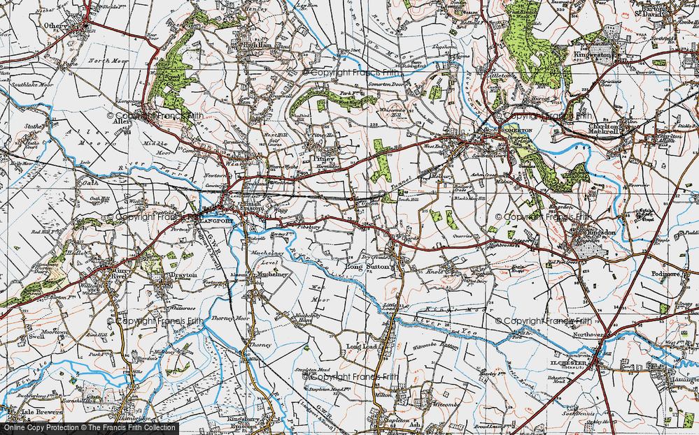 Old Map of Upton, 1919 in 1919