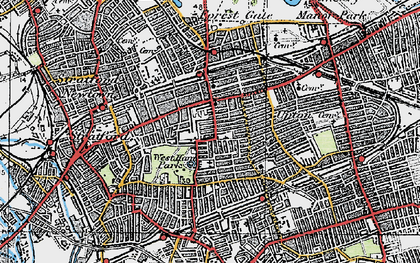 Old map of Upton in 1920