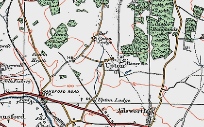 Old map of Ailsworth Heath in 1922